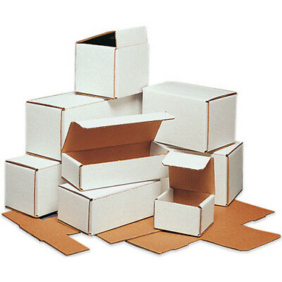100 - 9 x 4 x 4 White Corrugated Shipping Mailer Packing Box Boxes