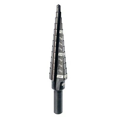 Milwaukee 48-89-9201 #1 Step Drill Bit, 1/8 in. - 1/2 in. by 1/32 in.