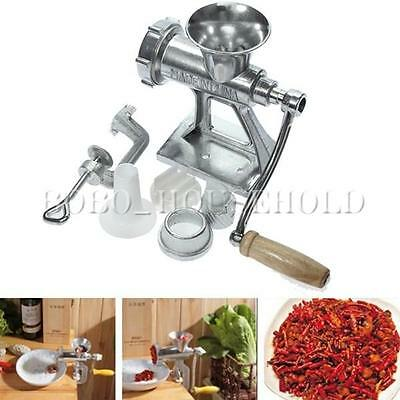 Hand Operated Heavy Duty Meat Mincer Manual Grinder Sausage Mince Kitchen Maker