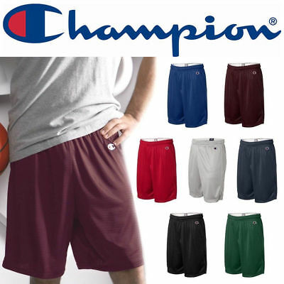 "Champion Mens POLYESTER MESH 9"" GYM SHORTS S-XL XXL 3XL Basketball Athletic 8731"
