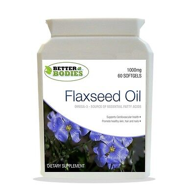 Flaxseed Oil 1000mg Softgels Capsules Omega 3 6 9 Flax Seed Linseed Oil 60 Caps
