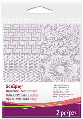 Sculpey Flexible Texture Makers Sheets Landscape Set 7 Different Patterns