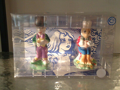 "PAUL CARDEW ALICE in  WONDERLAND ""MADHATTER & MARCH HARE""  SALT & PEPPER SHAKERS"