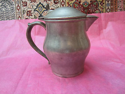 Antique Sm Pitcher-Creamer-Syrup.soud Pewter, Paul Revere,dowd Rogers Co.1910-32
