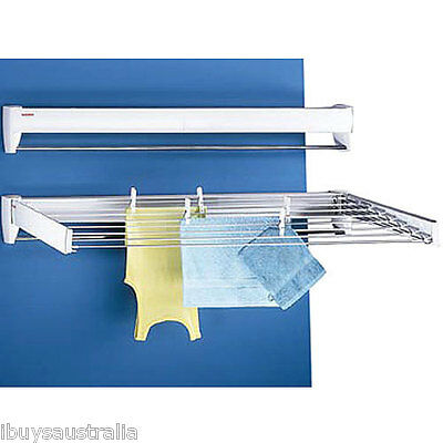 Leifheit Telegant Plus 100 Wall Mounted Clothes Airer 8 Lines GLN83100