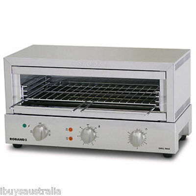 Roband Commercial Grill Max 8 Slice Top/Bottom Heat 2400W Toaster Griller GMX810