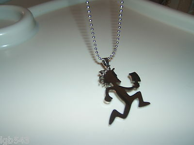 ICP HATCHET MAN Polished Stainless Steel pendant w/30 inch steel ball chain