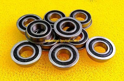 Flanged Metal Rubber Sealed Ball Bearings F688RS 25pcs F688-2RS 8x16x5 mm