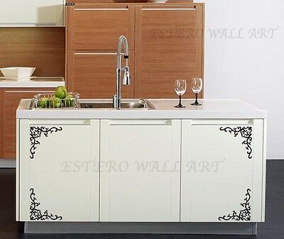 """""""Corner Decorations 2"""" Removable Vinyl Decal, Wall Sticker, Home Decor"""