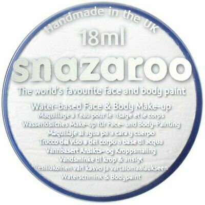 Snazaroo 18 ml WHITE FACE PAINT Fancy Dress Party Stage Make Up Halloween Ghost