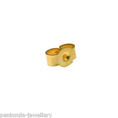 9ct gold Small earring scrolls butterfly backs (pair)