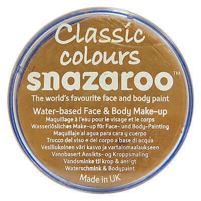 Snazaroo 18ml LIGHT BEIGE FACE PAINT Fancy Dress Party Stage Make Up Classic