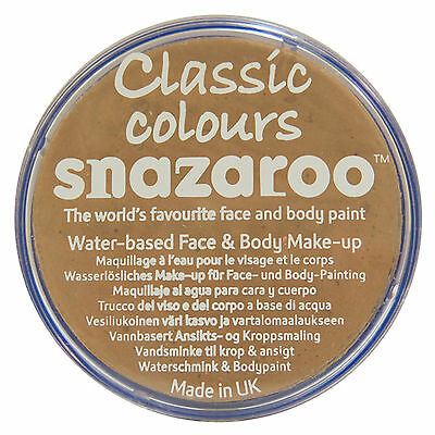 Snazaroo 18ml BARLEY BEIGE FACE PAINT Fancy Dress Party Stage Make Up Classic
