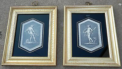 2 Vintage Flamed Picture Etching Italian Greek Gods