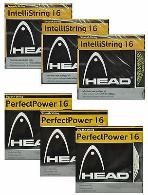 3 Sets - Head Squash String - Perfect Power 16 Or Intellistring 16