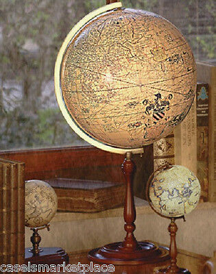 AUTHENTIC MODELS Mercator  World Globe w/Wood Stand Antique Reproduction