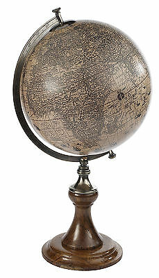 AUTHENTIC MODELS Hondius 1627 World Globe w/ Classic Stand Antique Reproduction