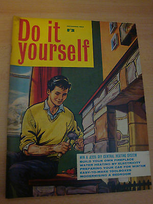 OLD VINTAGE 1960S DO IT YOURSELF DIY CRAFTS HOME DESIGN ETC MAGAZINE dec 1963
