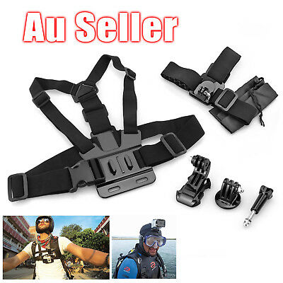 Head Strap Mount + Chest Harness for GoPro HD Hero 4 3+ 3 2 1 Chesty Accessories