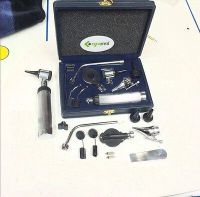 Otoscope & Ophthalmoscope Set ENT Surgical Instruments ( high quality )+ 3 BULB
