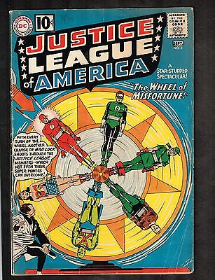 Justice League of America #6 ~ 1st Prof. Fortune ~ 1960 Series (5.0) WH