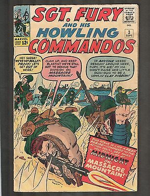 Sgt Fury and his Howling Commandos #3 ~ Reed Richards Crossover ~ 1963 (4.5) WH