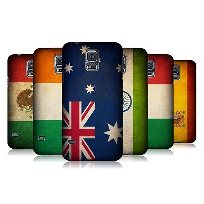 HEAD CASE DESIGNS VINTAGE FLAGS SET 1 HARD BACK CASE COVER FOR SAMSUNG GALAXY S5