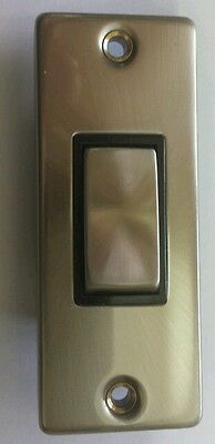 Click Scolmore Deco 1 Gang Architrave Switch - Chrome Brass Stainless Steel