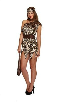 FANCY DRESS CAVE WOMAN STONE AGE BEDROCK ADULT COSTUME DRESS UP BIRTHDAY PARTY