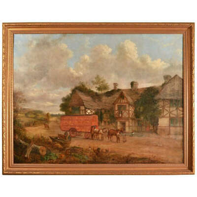 Antique English Painting by John Charles Maggs c.1860