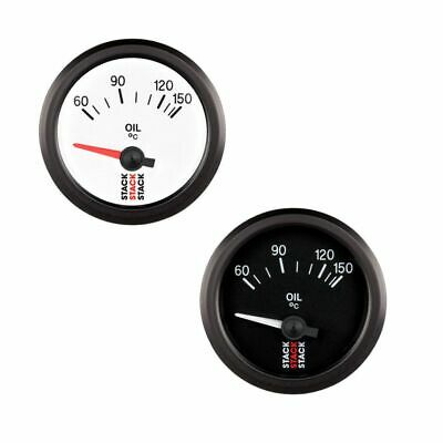 Stack Electrical Oil Temperature Gauge - White Dial Face - 60-150° Degrees C