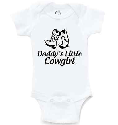 94589abbe Daddys Little Cowgirl Funny Onesie Cute Baby Shower Gift Infant Bodysuit  Creeper