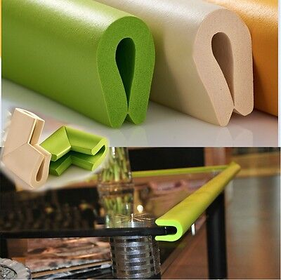 US SELLER! Glass Table Edge Guard+4 Corner Cushion Bumper Baby Safety Protector