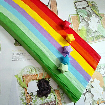520 pieces - 7 color rainbow ORIGAMI LUCKY STAR PAPER- limit stock