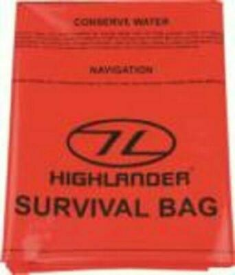 Highlander Cs037 Emergency Survival Sleeping Bivi Bag Orange
