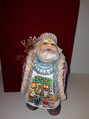 G. Debrekht Artistic Studios Delightful Santa Numbered Collectible Hand Painted