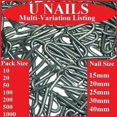 U NAILS   ALL SIZES   ANY AMOUNT    Netting Staples   Galvanised    Wire Nail