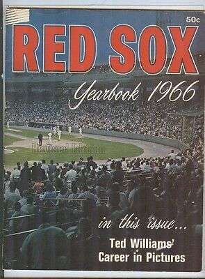 1966 Boston Red Sox Yearbook Tony Conigliaro Ex Revised Ted Williams Feature Yaz