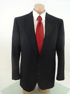 Fabulous Terzo Uomo Mens Navy Wool Suit Jacket Sport Coat Size 40R