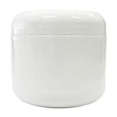 4 oz Plastic White Jar with Dome Lid  FREE SHIPPING