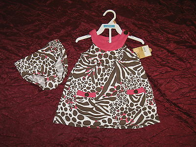 Baby girl New 2 piece set outfit dress by Carter's retail $18.00 animal print