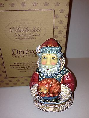 G. Debrekht Santa Purrfect Pair Cat Russian Collectible Numbered Limited Ed