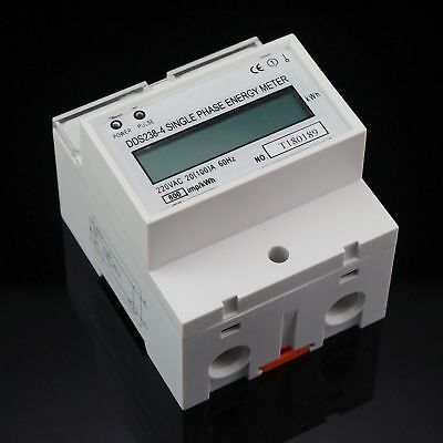 230V Single Phase DIN-rail Kilowatt Hour kwh Meter 60Hz