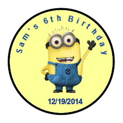 108 Personalized Birthday Despicable Me Hershey Kisses Party Favor labels