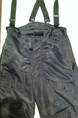 US Air Force F-18 Suspenders Flying Suit Type 1 60 Wool/40 Cotton Size 34
