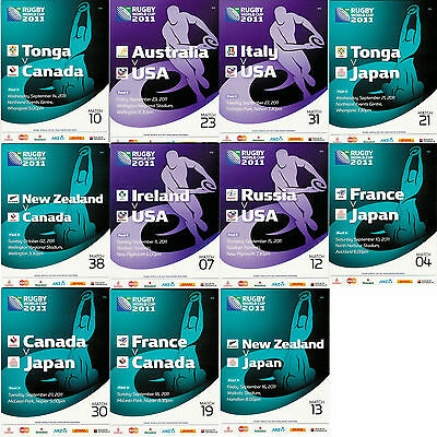 Canada Japan & Usa 2011 Rugby World Cup Programmes Free Uk Postage - Rwc