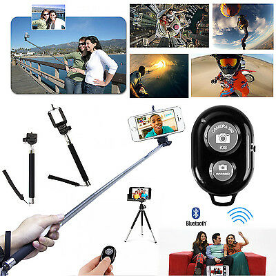 Extendable Selfie Handheld Monopod + Remote/shutter For Iphone 5 5S Smartphone
