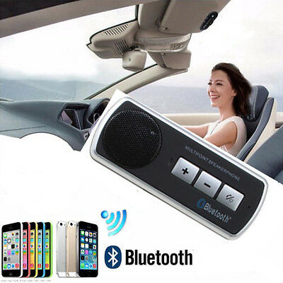Wireless Bluetooth Multipoint Speakerphone Hands Free Car Kit for Smart Phone