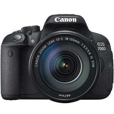 Canon EOS 700D Digital SLR Camera w/18-135mm EF-S IS STM Lens (Black) 8596B034AA