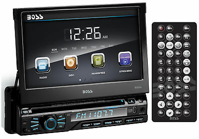 "Boss BV9967B 7"" In-Dash Touchscreen Flip Out Car DVD/USB/SD Receiver + Bluetooth"